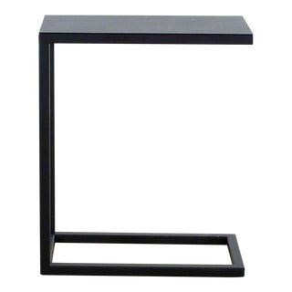 Crate & Barrel Avenue Black C Table For Sale