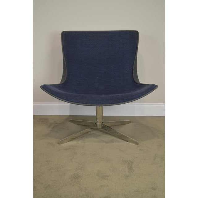 Monica Forster for Bernhardt Pair of Chrome Base Swivel Vika Lounge Chairs For Sale - Image 11 of 13