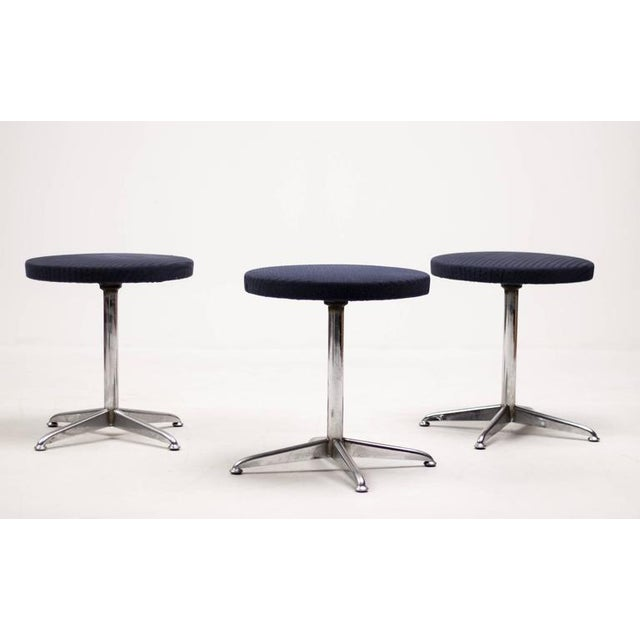 1960s Set of Three Dutch Mid-Century Modern Stools For Sale - Image 5 of 5