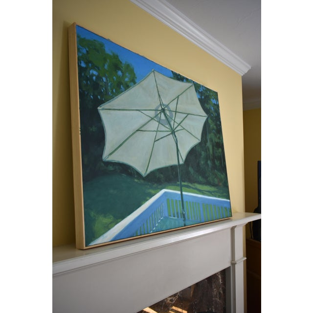 Stephen Remick Summer on the Back Deck Painting For Sale - Image 9 of 13