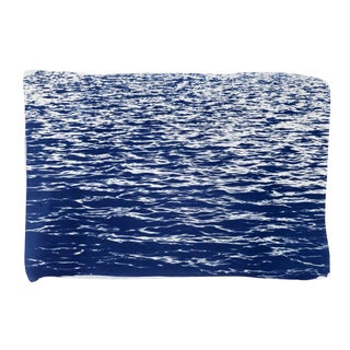 Large Cyanotype Print: Mediterranean Blue Sea Waves / 100x70cm / Limited Edition / For Sale