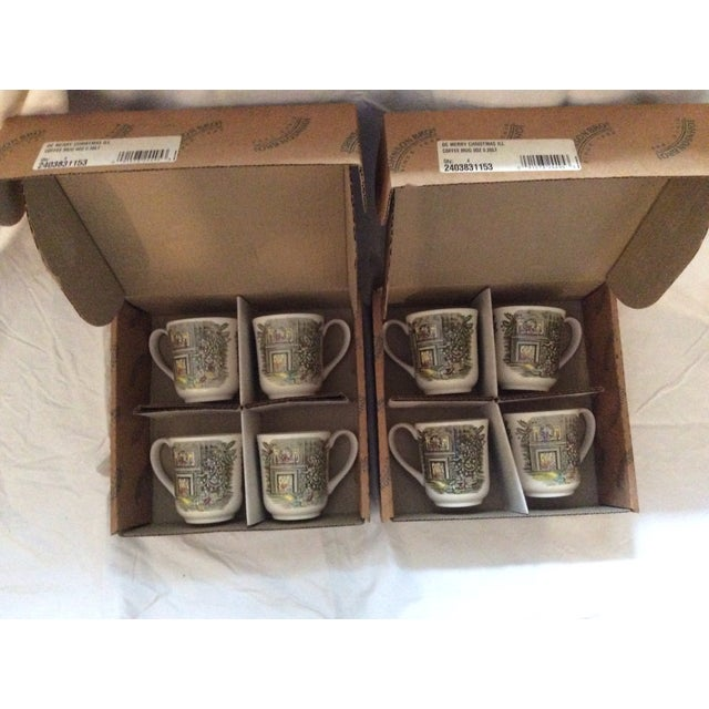 Johnson Brothers Christmas Coffee Mugs - Set of 8 For Sale In New York - Image 6 of 7
