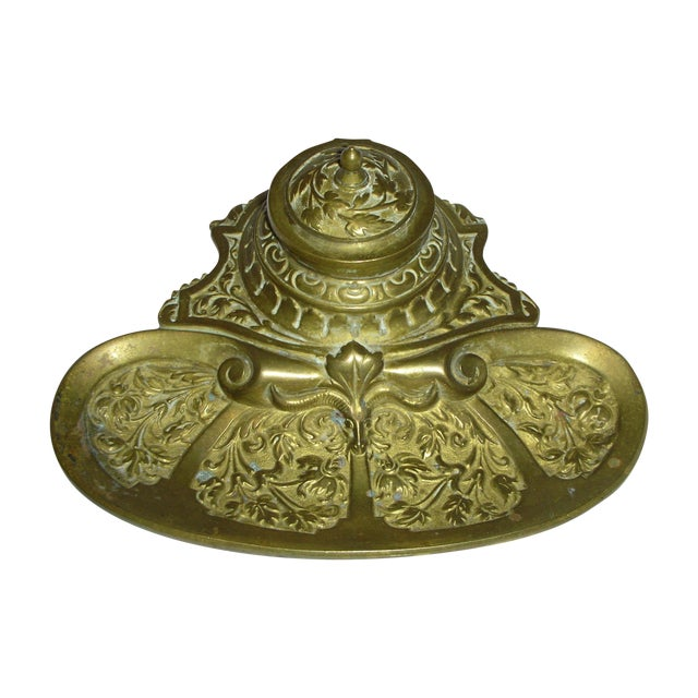 Ornate Brass Inkwell - Image 1 of 5