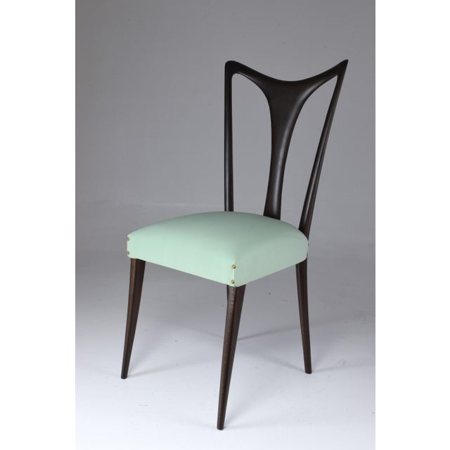Italian Vintage Dining Chairs Attributed to Guglielmo Ulrich, Set of Six, 1940s For Sale - Image 12 of 13