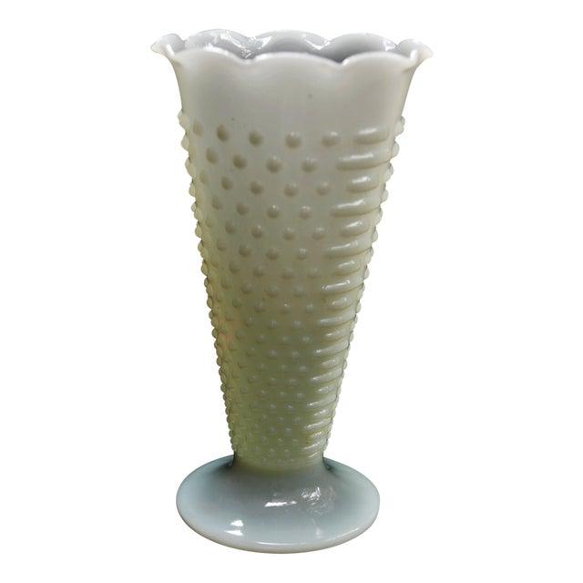 Vintage Anchor Hocking Hobnail Milk Glass Vase Chairish