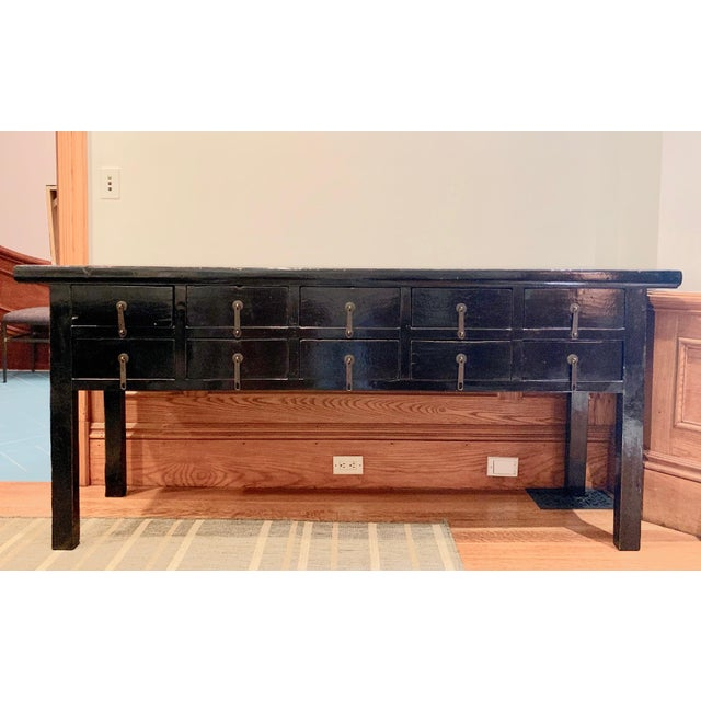 Mid 19th Century 19th Century Console Table With Drawers For Sale - Image 5 of 5