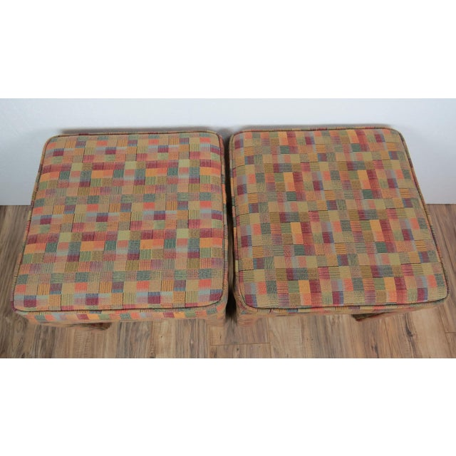 1980s Vintage Multicolor Parsons Stools - a Pair For Sale - Image 11 of 13