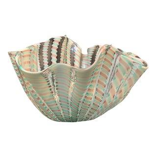 Venini Murano Art Glass Bowl For Sale