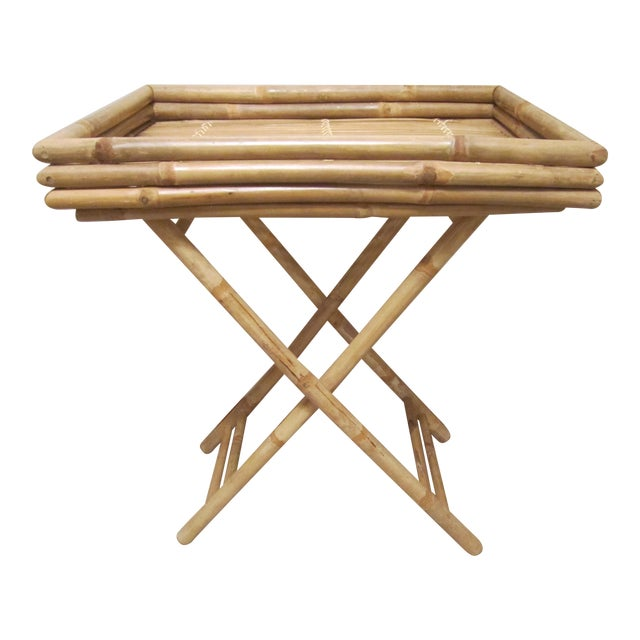 Bamboo & Rattan Table Tray - Image 1 of 11