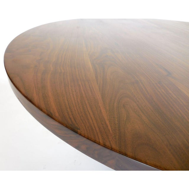 Metal Custom Walnut Wood Side Table With Custom Hand Forged Vine Base For Sale - Image 7 of 8