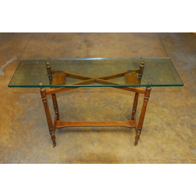 Henredon Glass Top Console - Image 7 of 7