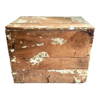 Antique Wooden Shipping Crate For Sale