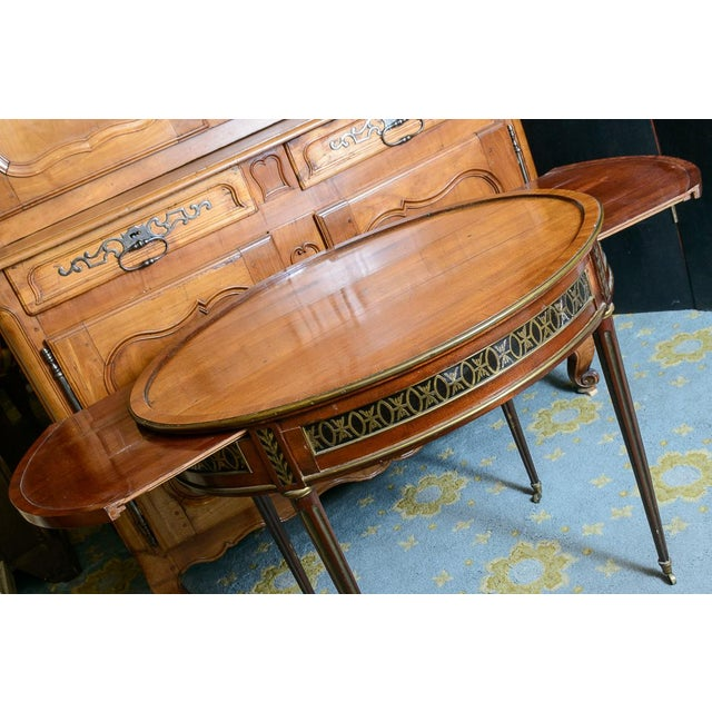 Metal Swiss Walnut Center Table For Sale - Image 7 of 10