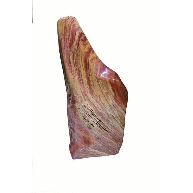 Red and Yellow Polished Mineral Slab For Sale In San Francisco - Image 6 of 6