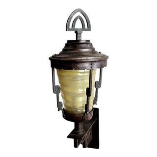 Heavy Bronze and Wrought Iron Sconce For Sale