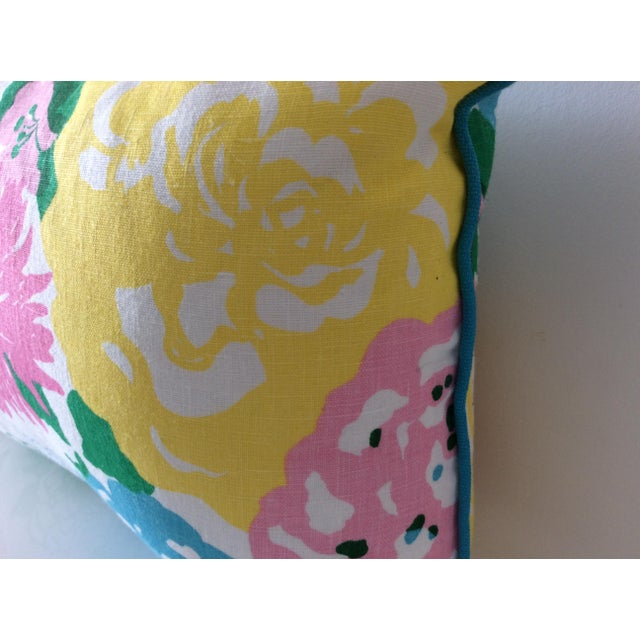 Sky Blue Cottage Style Handmade Floral Pillows - a Pair For Sale - Image 8 of 11
