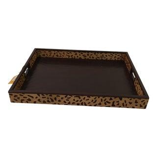 Decorative Animal Print Tray For Sale