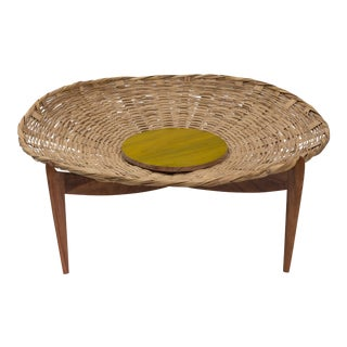 Solaria Mesa Canasta/ Basket Table Designed by Gabriela Valenzuela-Hirsch For Sale