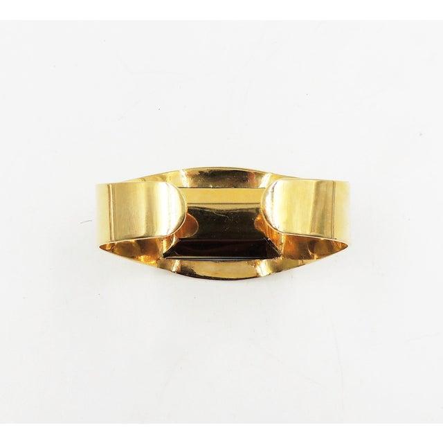 Blue 1970s Bijoux Cascio Italy Blue Rhinestone Cuff Bracelet For Sale - Image 8 of 9