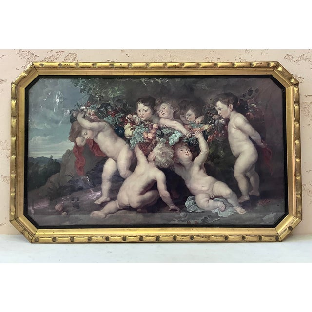 Brown 19th Century Garland of Fruit Print by Peter Paul Rubens For Sale - Image 8 of 8