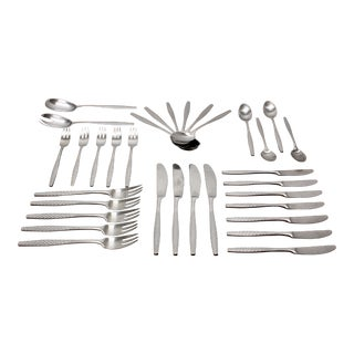 Vintage Jens Quisgaard Dansk Designs Jhq Flatware Set - Made in Finland - 33 Pieces For Sale