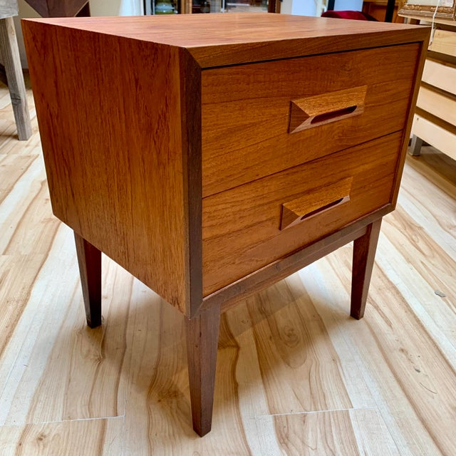 1960s Danish Modern Teak and Rosewood Nightstand For Sale - Image 13 of 13