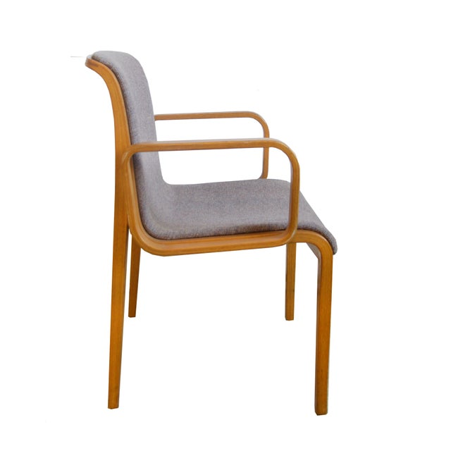 Mid-Century Modern 1980s Vintage Bill Stephens for Knoll Dining Chairs- A Pair For Sale - Image 3 of 5
