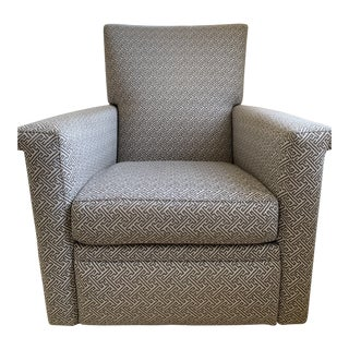 Crate + Barrel 360 Swivel Recliner Declan Accent Chair For Sale