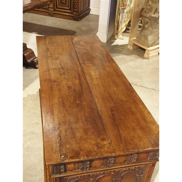 Italian 18th Century Walnut Wood Trunk from Italy For Sale - Image 3 of 11