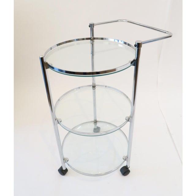Glass & Chrome Bar Cart - Image 2 of 7
