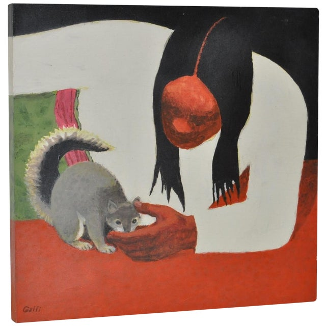 Stanley Galli 'Mission Indian & Friend' Painting For Sale