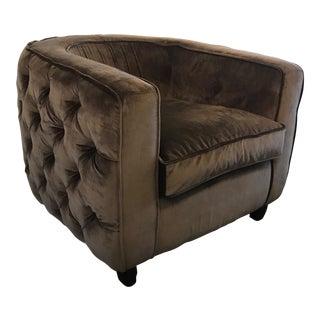 Round Tufted Club Chair