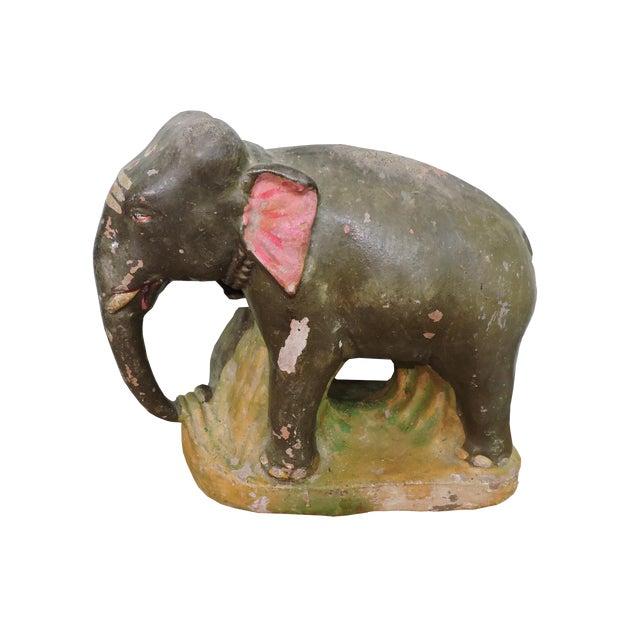 Lovely Little Terra Cotta Indian Elephant For Sale