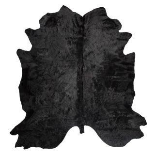 Black Cowhide Rug - 7′ × 8′ For Sale