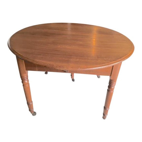 Antique Walnut Dining Table With Leaves For Sale