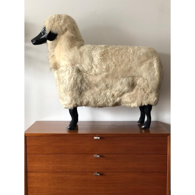 Sheep Sculpture Ottoman in the Style of Lalanne For Sale - Image 10 of 10