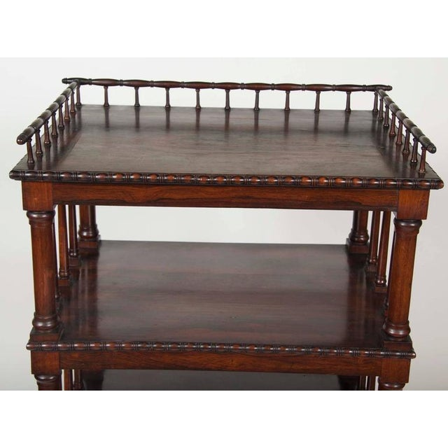 Early 19th Century William IV Rosewood Whatnot/ Etagere For Sale - Image 5 of 10