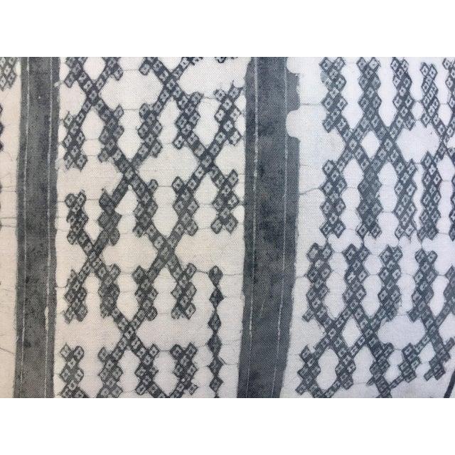 Silver Tribal Batik Pillows - A Pair - Image 5 of 7