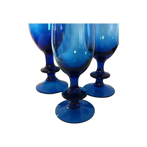 Carlo Moretti Blue Glass Goblets - Set of 3 - Image 3 of 3