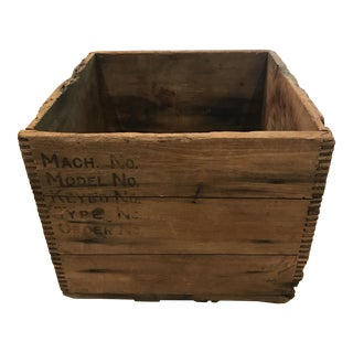 Early 1900s Rustic Wooden Typewriter Box