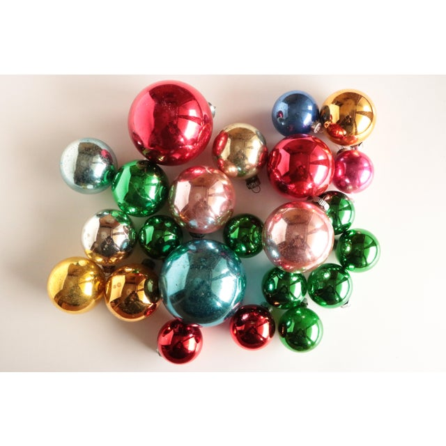 Mid Century Blown Glass Ornaments - Set of 23 - Image 2 of 7