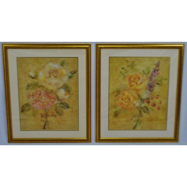 Vintage Framed French Jaune & Blanche Floral Still Life Prints For Sale - Image 12 of 13