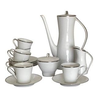 Edelstein Germany Vintage Mid Century Modern / Modernist Design Full Espresso Set - 15 Pc.