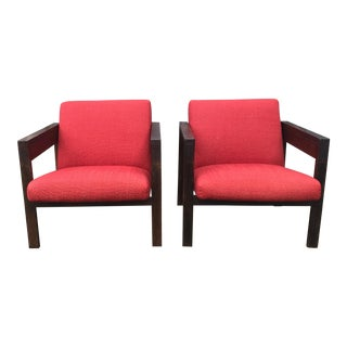 1950s Hein Stolle Sz25 Armchairs - A Pair For Sale