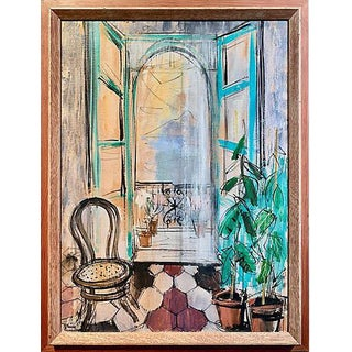 Sunlit Parisian Balcony by Patricia Cunningham For Sale