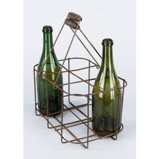 1950s Vintage French Metal Bottle Holder Basket Preview