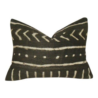 African Mudcloth Lumbar Pillow Cover For Sale