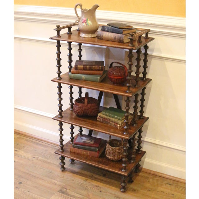 American Late 19th Century. Antique Rustic Folk Art Wooden Spool Shelves For Sale - Image 3 of 13