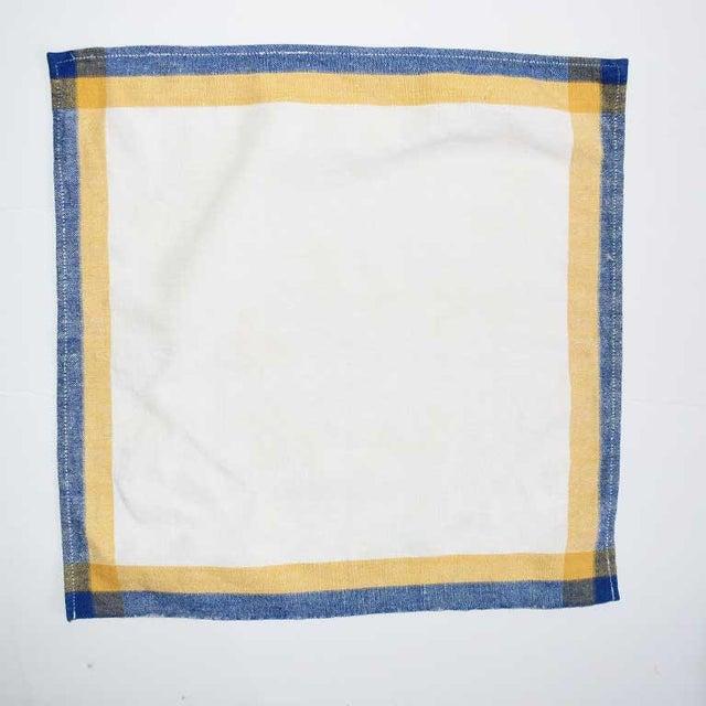 Linen Square Cloth Dinner Napkin Set-Set of 6 For Sale - Image 4 of 6