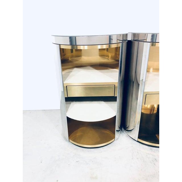 Paul Evans Mirror Polished Steel Cylinder Sideboard For Sale - Image 10 of 13